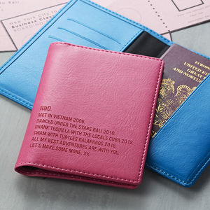 Special Memories Couples Passport Covers - mens accessories for valentines day