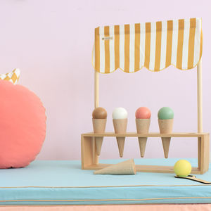 Hand Painted Wooden Ice Cream Play Set