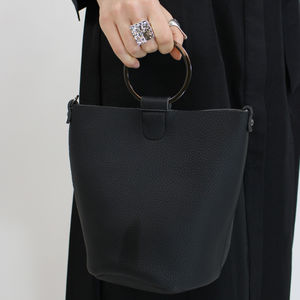 Small Black Pu Leather Clutch Bag