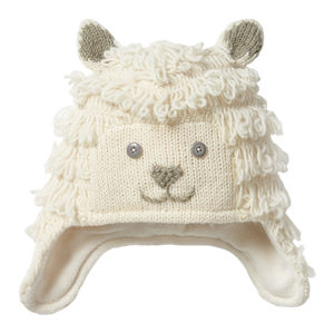 Woolly Sheep Knit Winter Hat For Kids
