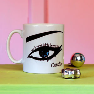 Personalised 'Just Winging It' Monochrome Mug - gifts for teenage girls