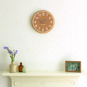 Eco Chunky Cork Wall Clock. White Or Black Print - clocks