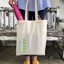 Personalised Tote Bag And Reusable Water Bottle