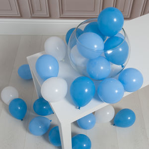 Pack Of 28 Baby Boy Mini Balloons