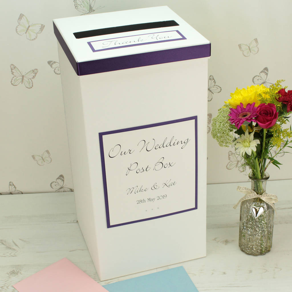 Post Wedding Gifts: Personalised Classic Wedding Post Box By Dreams To Reality
