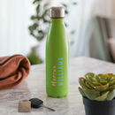 Personalised Reusable Green Water Bottle