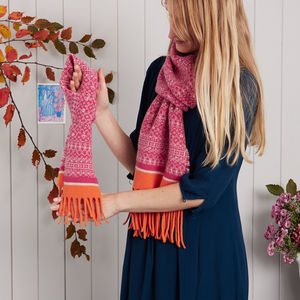 Adult And Kids Knitted Scarf Gift Set
