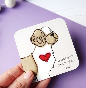 Shih Tzu Gifts Coasters Greatest Dog Mum Gift