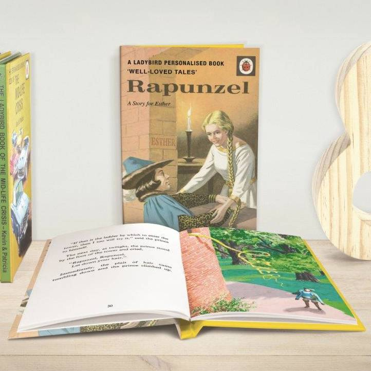 Personalised Ladybird Rapunzel Story Book