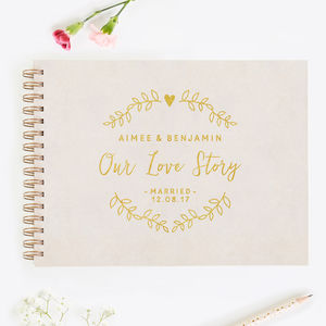 Wedding Anniversary Gift Couple's Memory Book