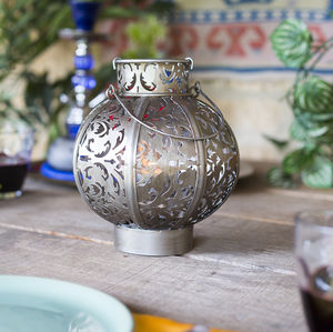 Small Morocco Globe Lantern - lights & lanterns