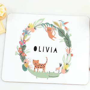 Personalised Placemat For Children 'Jungle' - dining room