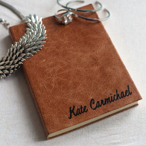 2017 Personalised Leather Diary - gifts for her