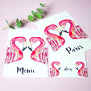 Pink Flamingo Personalised Wedding Stationery