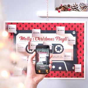 Personalised Christmas Playlist Advent Calendar