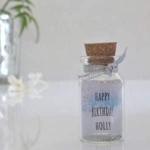 Birthday Gift For Her Personalised Mini Message Bottle - new in home