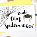 Chief Spider Catcher, Funny Father's Day Card