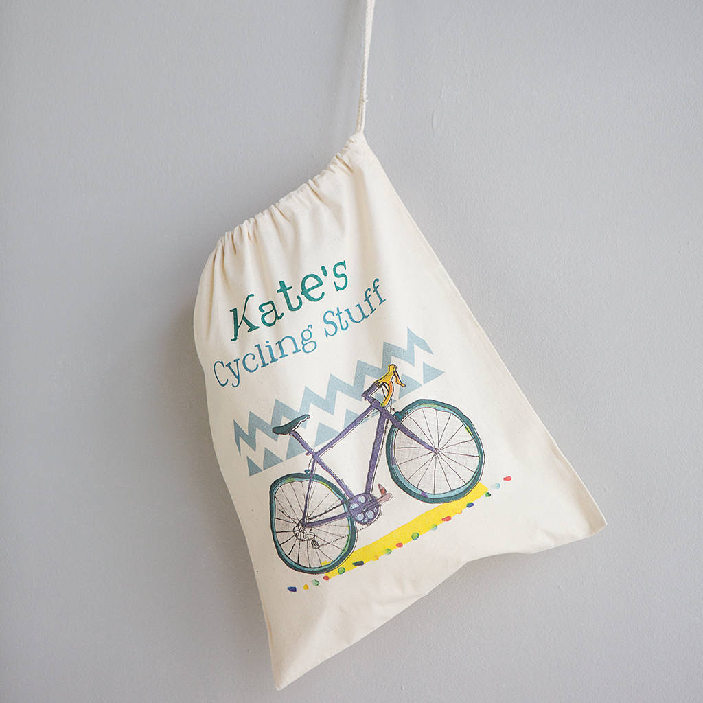 Personalised Cycling Storage Bag personalised cycling storage