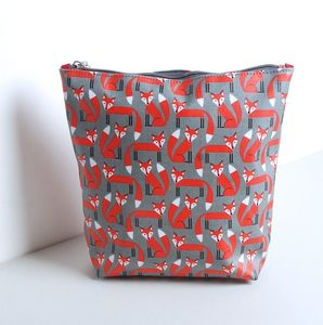 Personalised Fox Print Wash Bag