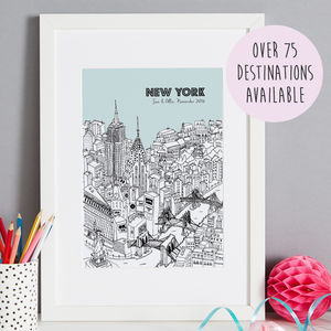 Personalised City Illustration Print