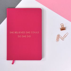 Foil Embossed Motivational Quote A5 Notebook
