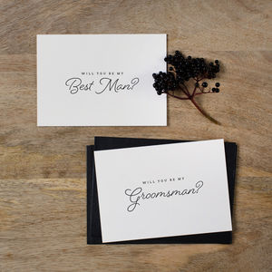 'Will You Be My Best Man?' Card - wedding cards