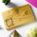 Personalised 'Botanical' Couples Cheese Board
