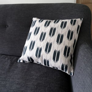 Ikat Style Cushion - patterned cushions