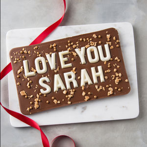 Love You Salted Caramel Valentine's Chocolate Slab