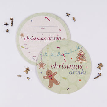 Christmas Drinks Invites
