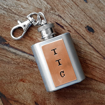Personalised Hip Flask Key Ring