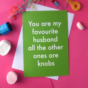 Favourite Husband Greetings Card - birthday cards