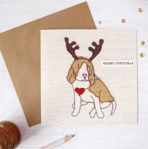 Cute Beagle Dog Christmas Cards