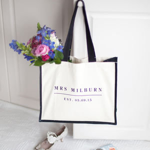 Personalised Wedding Date Bag - gifts for the bride