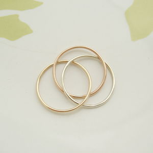 Skinny Three Gold Trinity Ring