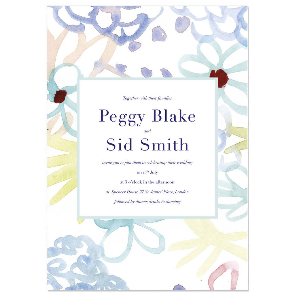 chelsea wedding invite sample by hollyhock lane | notonthehighstreet.com