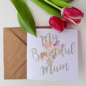 'My Mum' Hand Painted Greeting Card - cards & wrap