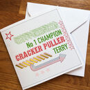 Personalised Christmas Cracker Card