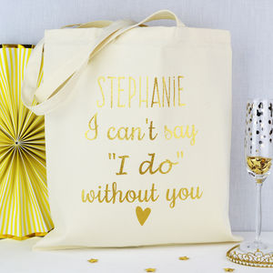 Personalised 'Be My Bridesmaid' Bag - whats new