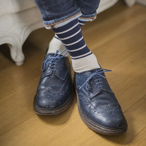 Breton Stripes Fine Sock - underwear & socks