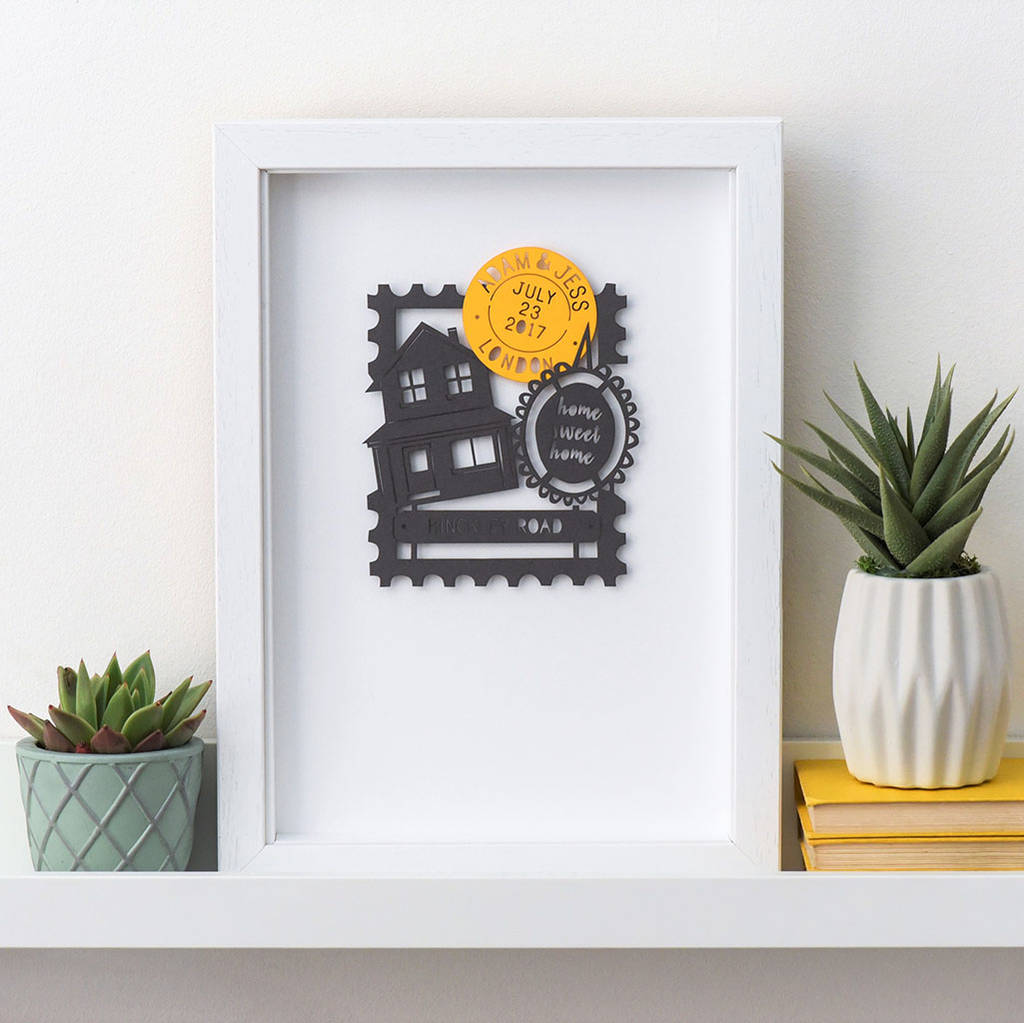 Personalised Home Papercut Artwork Gift