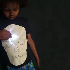 Skull Light T Shirt A Draw In The Dark Glow Up T Shirt - fancy dress