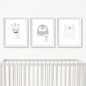 Modern Animal Nursery Art Prints