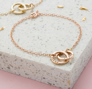 Personalised Double Hoop Names Bracelet - gifts for mothers