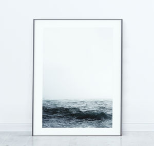 Moody Sea Contemporary Scandinavian Print
