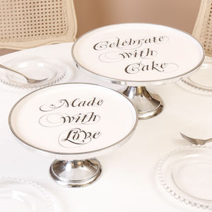 Celebrate With Cake Footed Cake Stand - cake stands