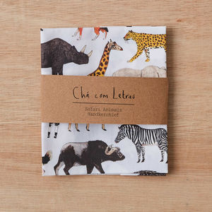 Safari Animals Handkerchief Pocket Square