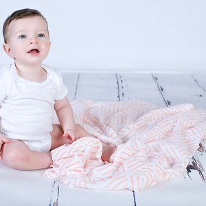 Geometric Muslin Swaddle Blanket