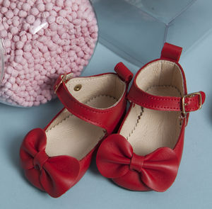Charlotte Occasion Soft Sole Shoes With Bows For Babies - shoes & footwear