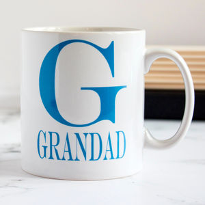 Personalised Colour Initial Mug - tableware